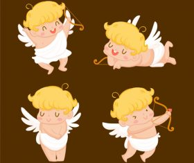 Happy angel cartoon illustration vector