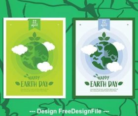 Happy earth day poster vector