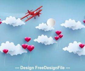 Happy valentines day illustration vector