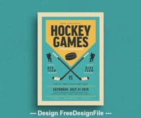 Hockey tournament flyer vector