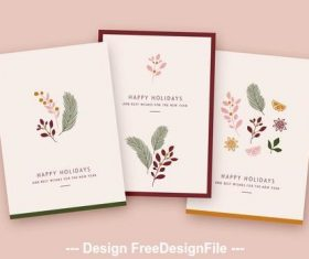 Holiday card with illustrative vector