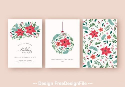 Holiday party and card vector