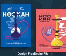 Hookah lounge poster vector