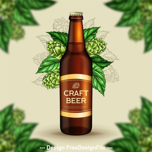 Hops and beer poster vector