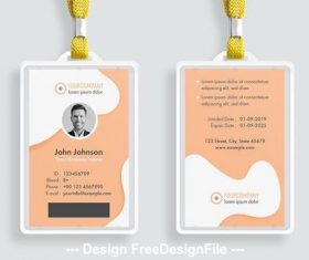 ID card shape elements vector