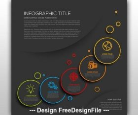 Info chart layout with circle vector