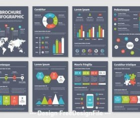 Infographic brochure vector