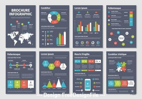 Infographic brochure vector