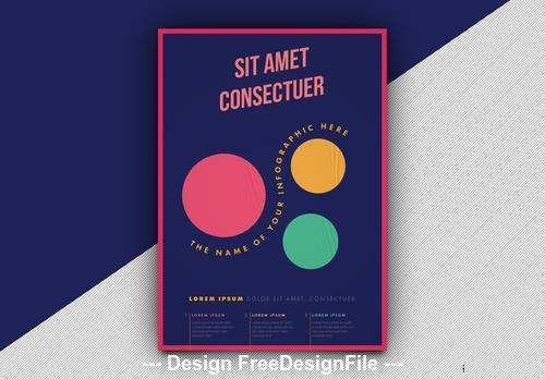 Infographic poster with circle elements vector