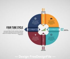 Infographic with tubes vector