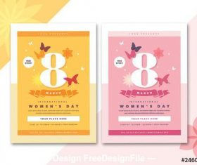 International womens day flyer vector