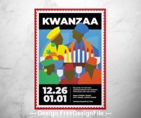 Kwanzaa event flyer vector