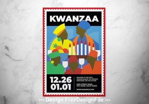 Kwanzaa event flyer vector