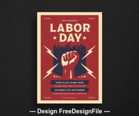 Labor day event flyer vector