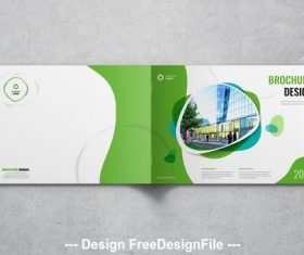 Landscape cover with green and blue elements vector
