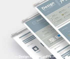 Layout simple company website vector