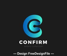 Letter C logo design vector