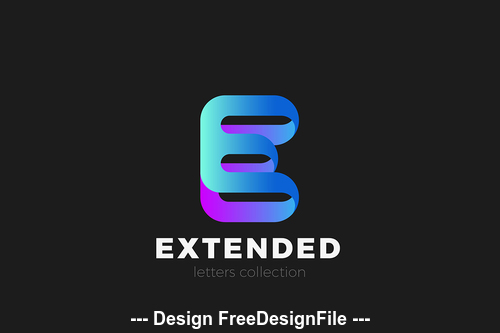 Letter E logo design vector