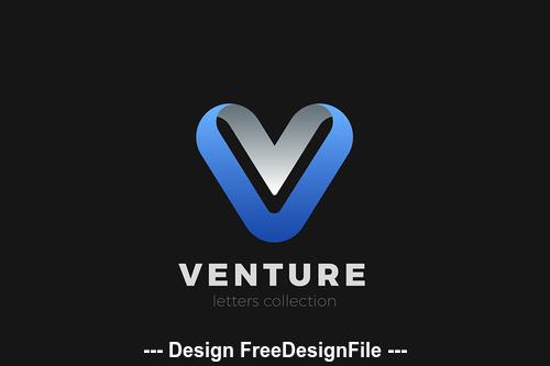 Letter V logo design vector