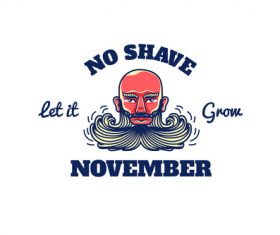 Logo no shave november vector