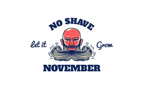 Logo no shave november vector