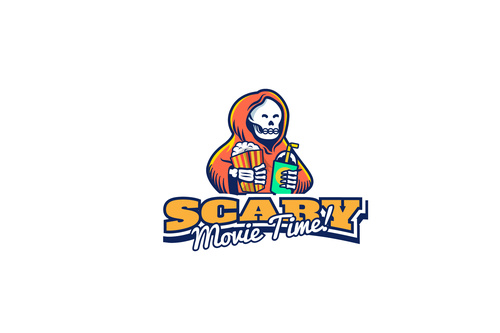Logo scary movie time vector