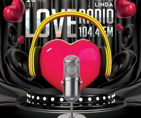 Love Radio FM Flyer Psd Template