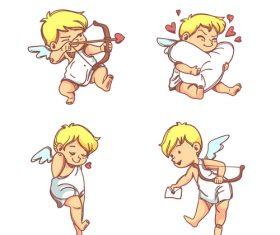 Love arrow cartoon illustration vector