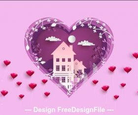 Love our home card vector