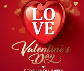 Love valentines day greeting card vector