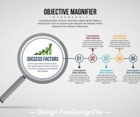 Magnifying glass infographic vector