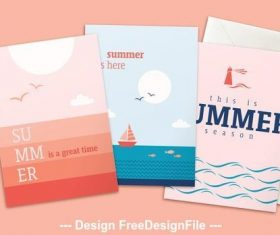 Maritime theme summer poster vector