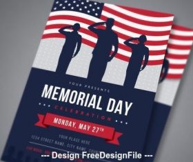 Memorial Day Flyer vector