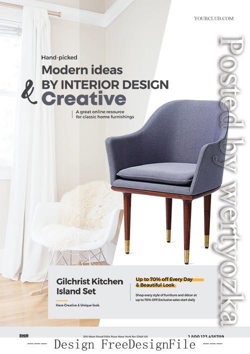 Minimalist Furniture Poster PSD Template