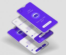 Mobile application interface registration vector