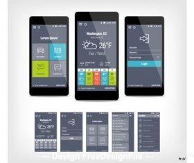 Mobile user interface vector