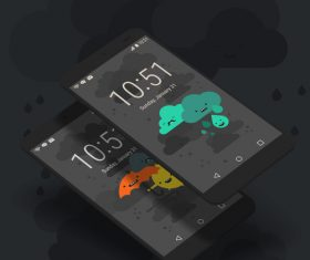 Mobile weather App vector