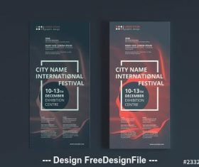 Modern abstract flyer layout vector