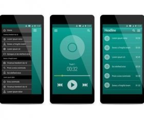 Music app user ui interface vector