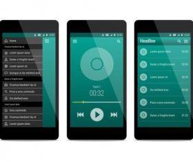 Music app user ui interface vector