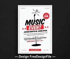 Music event flyer vector
