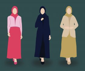 Muslim fashion 2020 vector