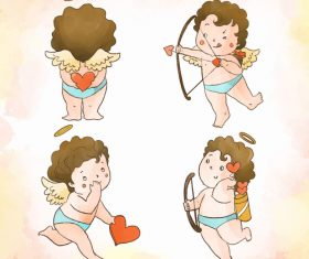 Naughty little angel cartoon illustration vector