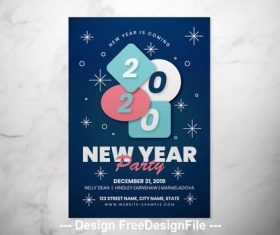 New year event flyer vector