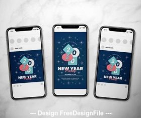 New year event social media vector