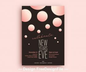New years eve party flyer vector