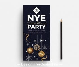 New years festive theme vector