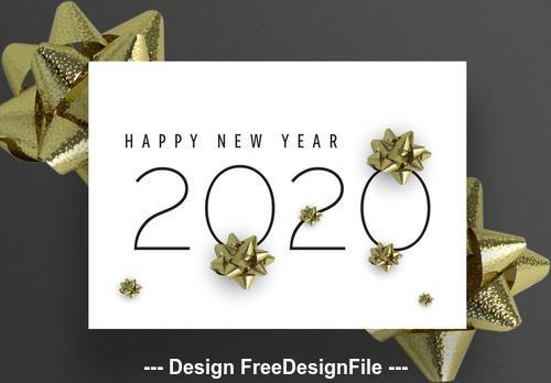 New years greeting card background vector