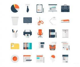 Office Work icons vector