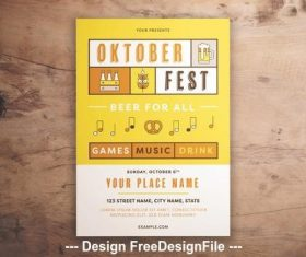 Oktoberfest event graphic flyer vector